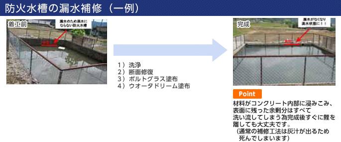 防火水槽の漏水補修(一例)